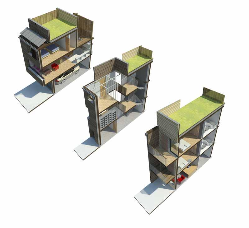 Concept d habitat modulaire r patiohouse safia benayad for Habitat modulaire